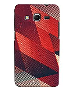 Blue Throat Stripes Triangle Printed Designer Back Cover For Samsung Galaxy Core Prime