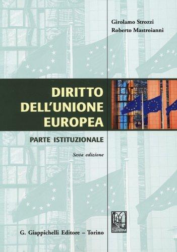 Diritto dell'Unione Europea Parte istituzionale PDF