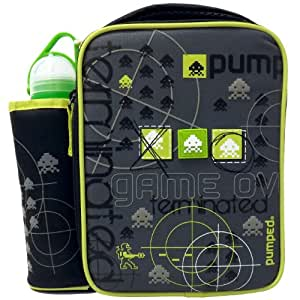 Decor Children's Lunch Box with Water Bottle - Game Over