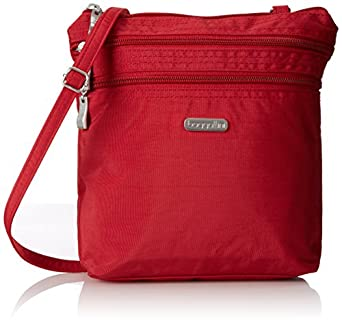 Baggallini Zipper Crossbody Travel Bag, Apple, One Size