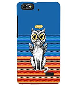Printdhaba Meowl D-3518 Back Case Cover For Huawei Honor 4C