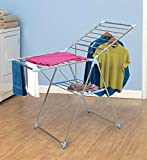 Fully Assembled Folding Collapsible Stainless Steel Clothes Laundry Indoor/Outdoor Dryer Drying Rack