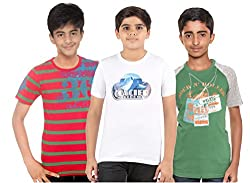 Menthol Boys Round Neck Tshirt (Pack of 3) (11-12 Years)