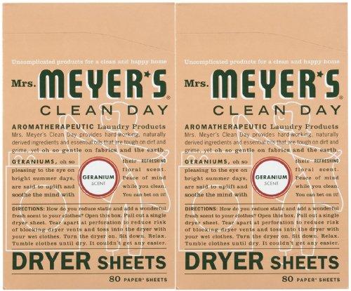 Mrs Meyer S Clean Day Dryer Sheets Geranium 80 Ct 2