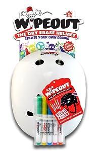 Wipeout Dry Erase Helmet, White, Medium/5+ Years