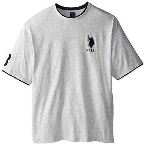 U.S. Polo Assn. Men'S Big-Tall Crew Neck T-Shirt, Light Heather Gray, 4X