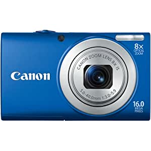 Canon PowerShot A4000IS 16.0 MP Digital Camera with 8x Optical Image Stabilized Zoom 28mm Wide-Angle Lens with 720p HD Video Recording and 3.0-Inch LCD (Blue) (OLD MODEL)