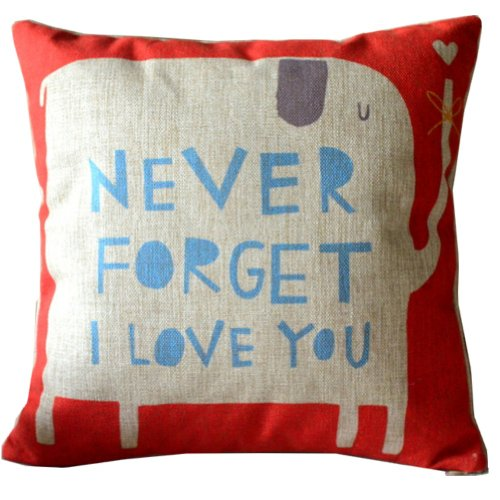 Animal Style Lovely Cartoon Red Elephant Pass Love Letters Sofa Simple Home Decor Design Throw