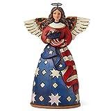 Jim Shore Heartwood Creek Patriotic Angel in Flag Dress