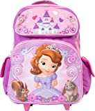 Disney Princess Sophia the First Large Rolling Backpack Schoolbag