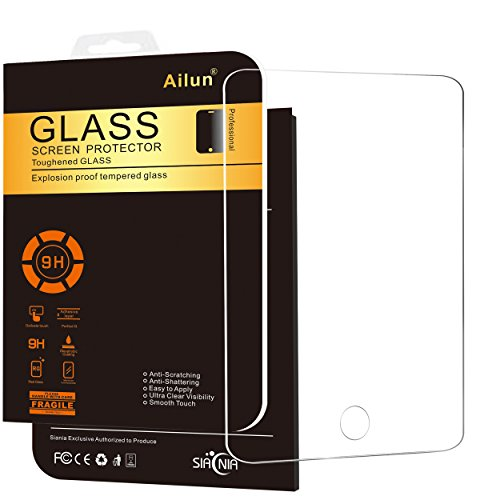 iPad Mini Screen Protector,by Ailun,Tempered Glass,for Apple iPad Mini 1/2/3,9H Hardness,2.5D Edge,Ultra Clear,Anti-Scratch,Bubble Free,Anti-Fingerprint&Oil Stain,Case Friendly-Siania Retail Package (Sell Ipad Mini compare prices)