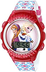 Disney Kids' FNFKD050 Digital Display Quartz Multi-Color Watch