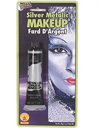Rubie's Costume Co Slvr Metallc Cream Makeup Costume,0.7 oz