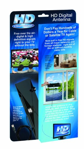 HD Clear Vision Indoor HDTV TV Antenna - Free Over The Air Digital TV