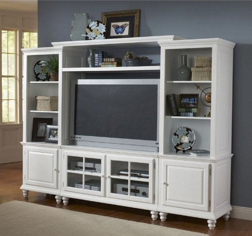 Cheap Entertainment Center Plasma TV Stand in White Finish (HS-6122SEC)