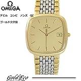 [オメガ]OMEGA デビル アンティーク コンビ ゴールド文字盤 メンズ 腕時計 クォーツ ヴィンテージ 中古