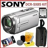 Sony DCR-SX85 16GB Handycam Camcorder Silver + 4GB Accessory Kit