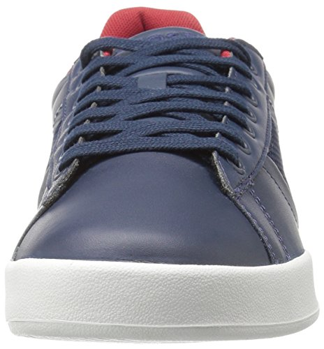 Lacoste Men's Deston 316 1 Spm Fashion Sneaker, Navy, 11 M US