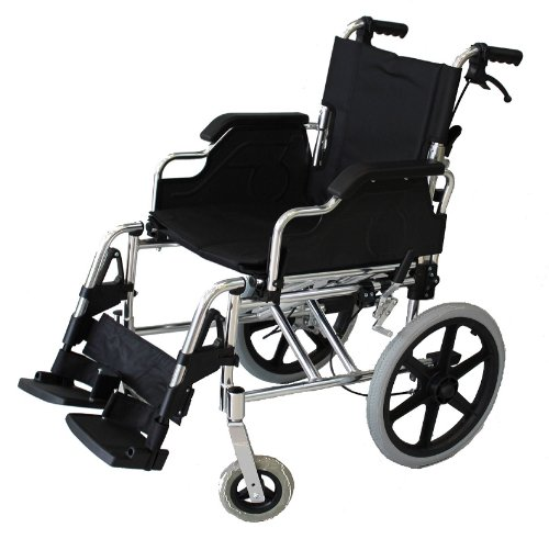 fauteuil roulant avec freins à main Pliant léger deluxe transit