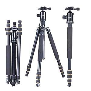 Mactrem Portable Camera Magnesium Aluminium Tripod Monopod