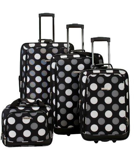 rockland-f105-luggage-set-black-dot-one-size-4-piece