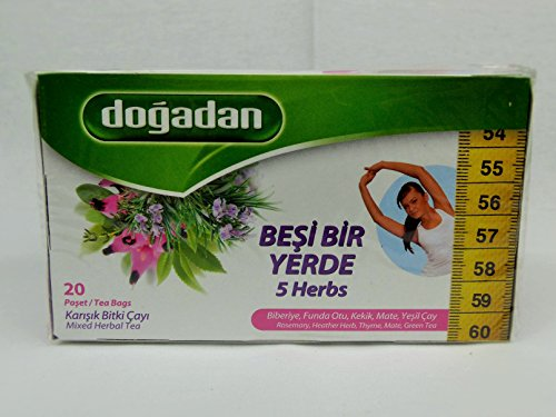 Dogadan 5 Herbs MIxed Herbal Tea Pack 3 (3x20 Tea Bag) (Mixed Tea Herbs compare prices)