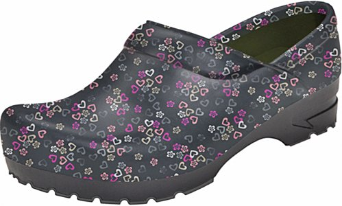 Anywear Closed Back Plastic Clog   Lucky In Love Size 8