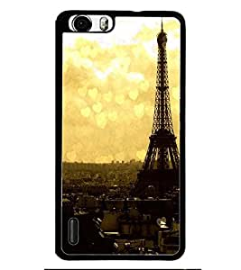 PRINTSWAG TOWER WITH HEARTS Designer Back Cover Case for HUAWEI HONOR 6