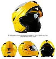 ILM 10 Colors Motorcycle Flip up Modular Helmet DOT (XL, Yellow) from ILM