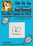 Little City Dogs BEEF FLAVORED Flea Killer Capsules for Dogs - 57 Mg Nitenpyram ...compare to Capstar® - 14 Capsules for Dogs 25 to 125 lbs