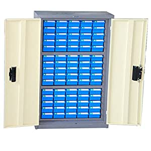 75 blue drawers organizing cabinet work bin spare parts cabinet
