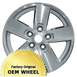 JEEP COMMANDER 17×7.5 5 SPOKE Factory Oem Wheel Rim- MACHINED FACE SILVER – Remanufactured