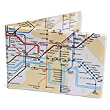 Crafted Lines Travel Oyster Card Wallet - London Tube Map Yellow