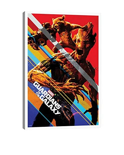 Guardians of The Galaxy: Groot & Rocket Movie Poster Gallery-Wrapped Canvas Print