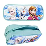 Officially Licensed Disney Frozen Single Zipper Pouch Pencil Case - Elsa, Olaf, and Anna