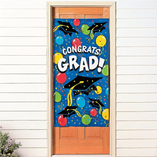 "Graduation Door Banner 30"" X 5 Ft. Plastic"