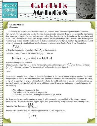 Calculus Methods (Speedy Study Guides: Academic)