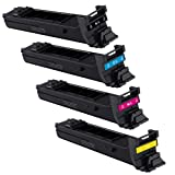 Doitwiser® Compatible Toner Cartridge Set Konica Minolta Magicolor 5550 5650 5570 5670EN - Black and Colour High Yield 12,000 Pages (4 Pack)