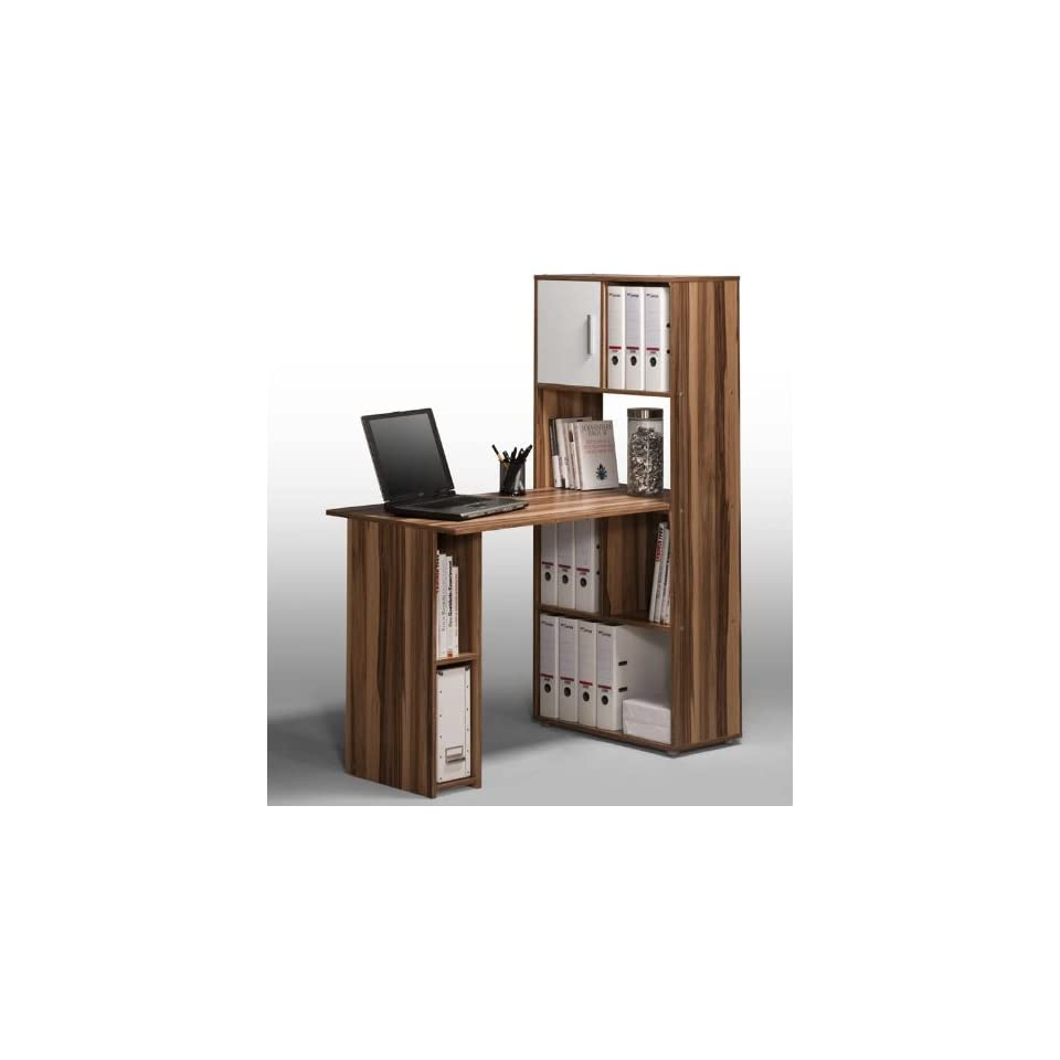 glas computertisch pc tisch schreibtisch mit regal on. Black Bedroom Furniture Sets. Home Design Ideas