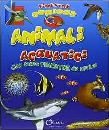 Animali acquatici. Finestre curiose: aa vv: 9788898128280: Amazon.com