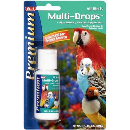 Pet Birds Multi-Drops, High Potency, Vitamin Supplement, 1 Fl Oz