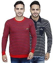 PRO Lapes Stripped Sweatshirt & T-Shirt Combo pack