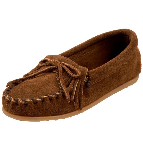 Minnetonka Kilty Moccasin (Toddler/Little Kid),Dusty Brown,3 M US Little Kid
