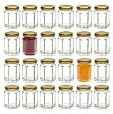 Migliore bottiglie 1,5oz (Barattolo per marmellata, 55ml) con coperchio oro (24pezzi.