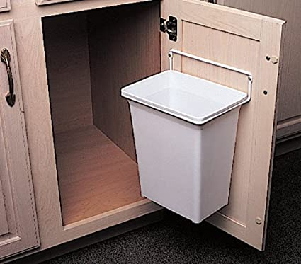 Under cabinet trash can pull out or door mount for Trash can ideas for small kitchen