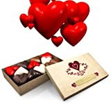 12 pcs Light Brown Chocolate Box With I Love You Engraved In French