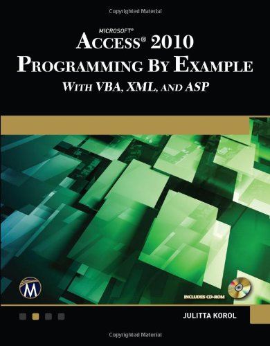 Microsoft Access 2010 Programming By Example  1936420023 pdf