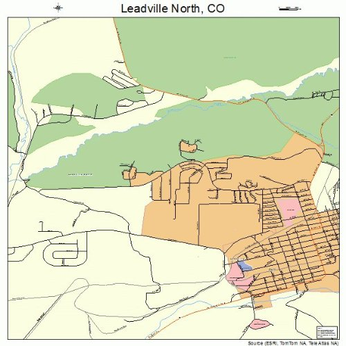 Large Street & Road Map Of Leadville North, Colorado Co - Printed Poster Size Wall Atlas Of Your Home Town