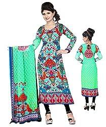 BalajiWomen's Crepe Unstitched dress material(2005-multicolor-free size)