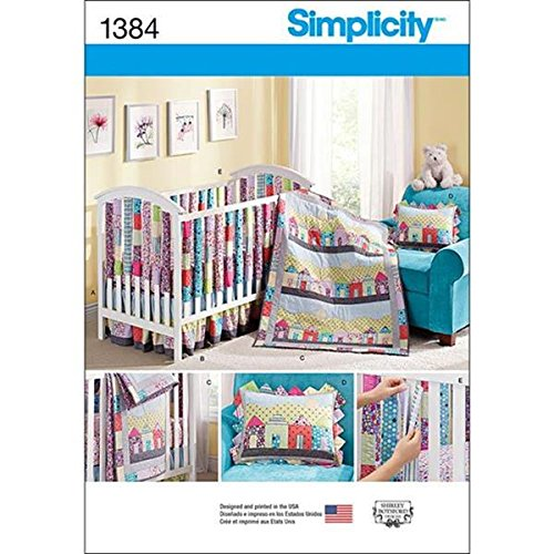 Simplicity 1384 Nursery and Crib Suite by Shirley Botsford Designs (Baby Crib Bedding Sewing Patterns compare prices)